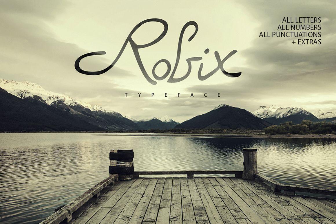 Robix Typeface + Extras example image 1