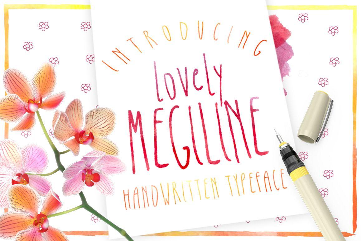 Megiline Typeface example image 1