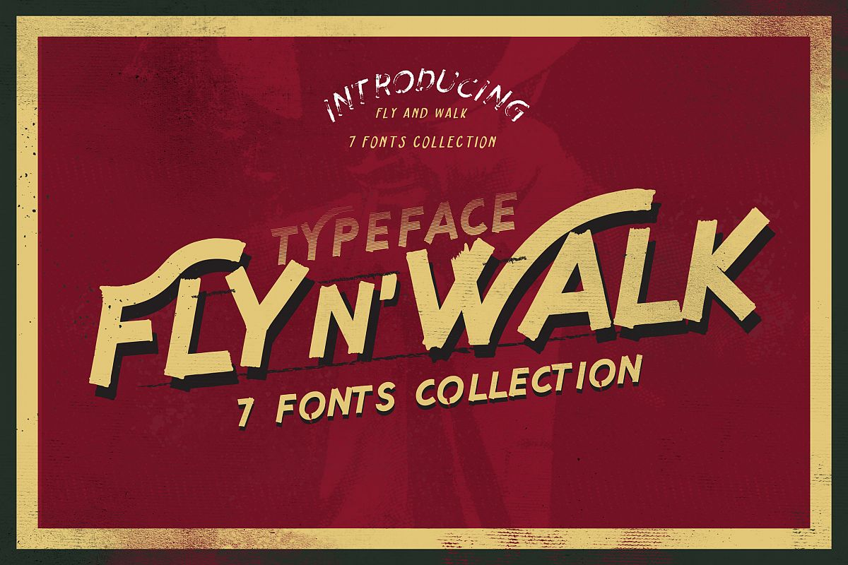 Fly and Walk Typeface example image 1