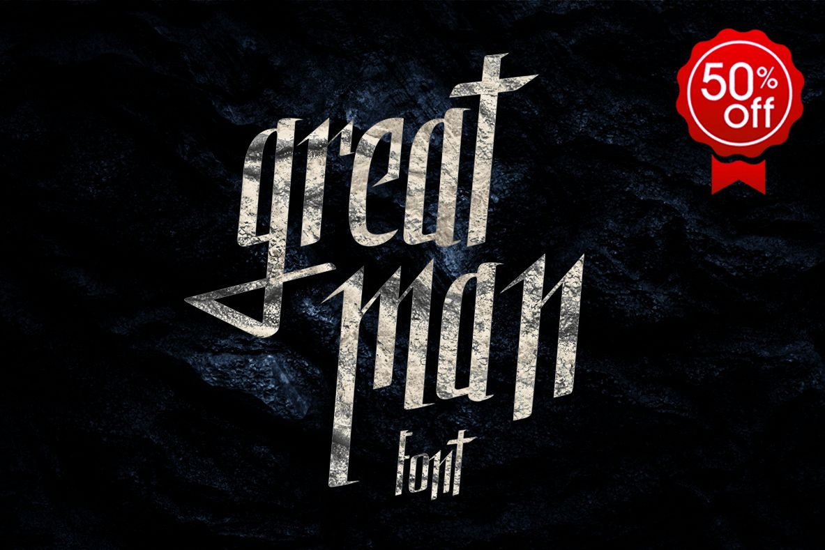 Great Man font example image 1