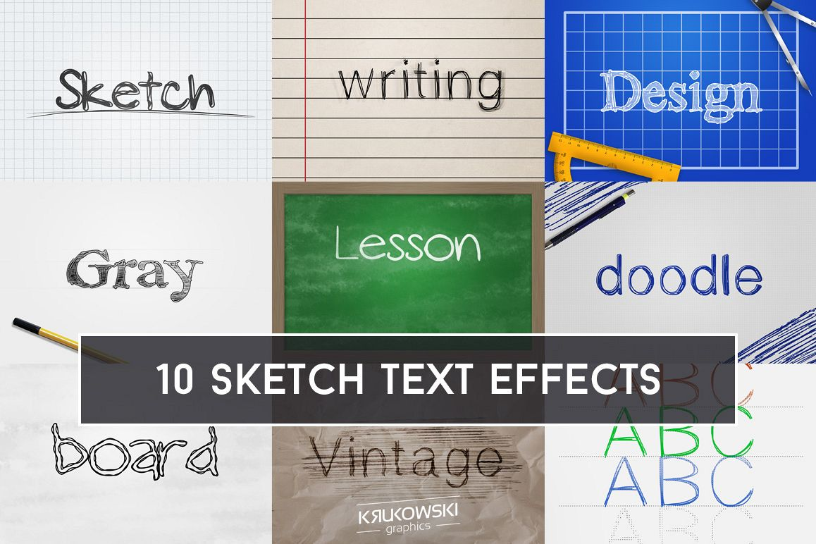 Sketch Text Effect Mockup example image 1