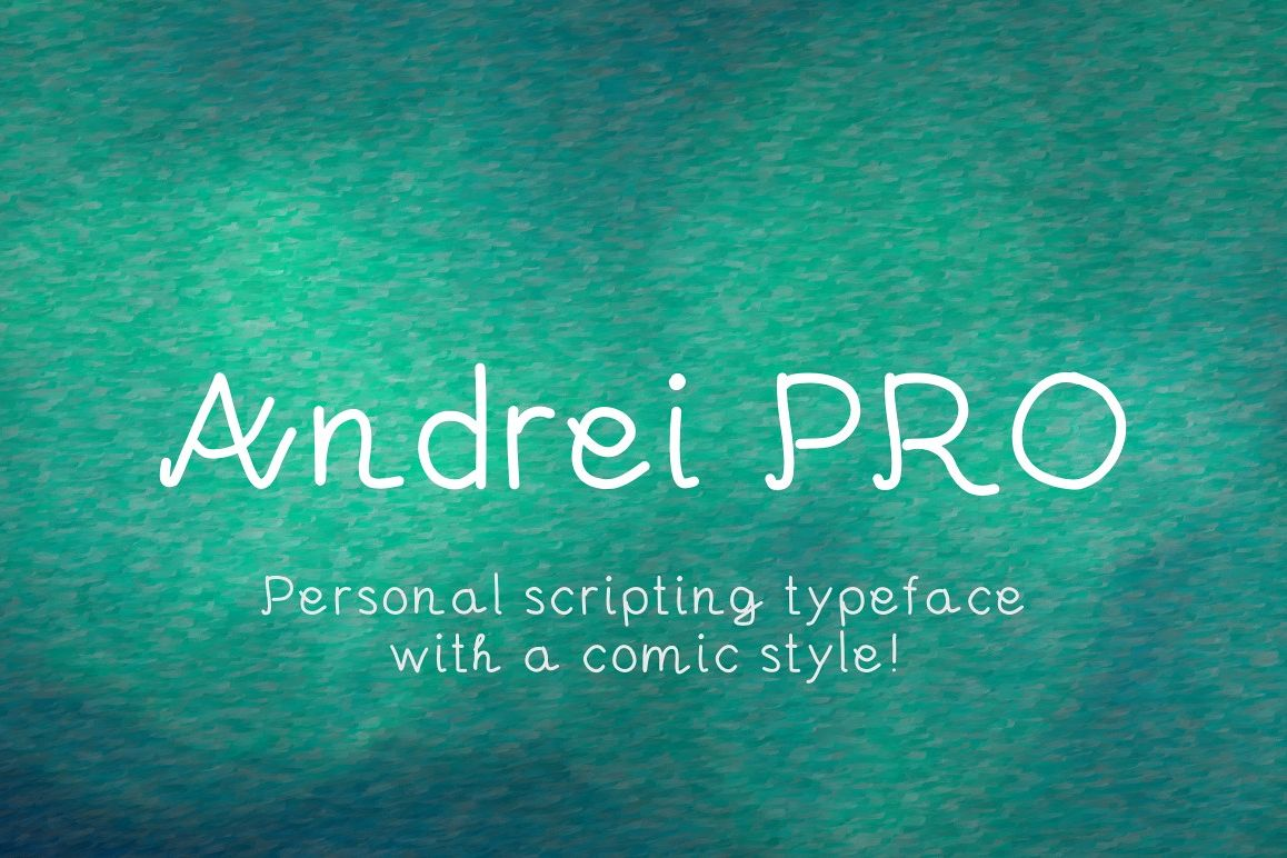 Andrei Pro font example