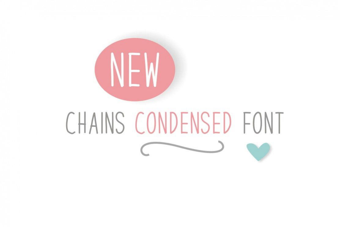 Chains Font Condensed example image 1