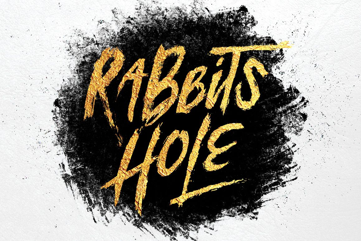 Rabbits Hole Brush Font + Bonus example image 1