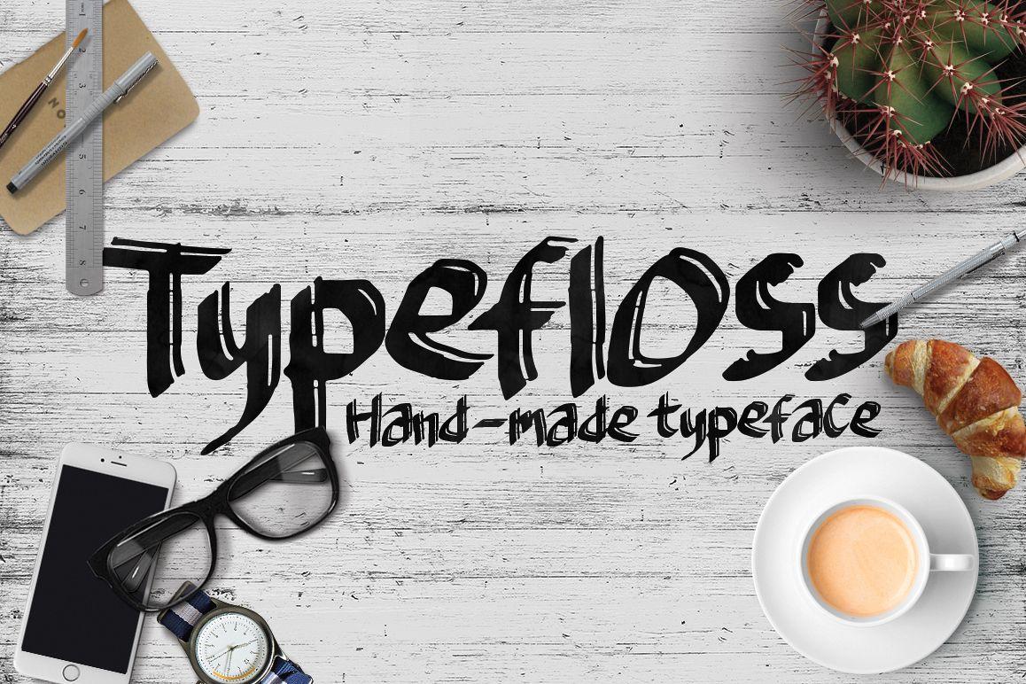 Typefloss Handmade Typeface example image 1