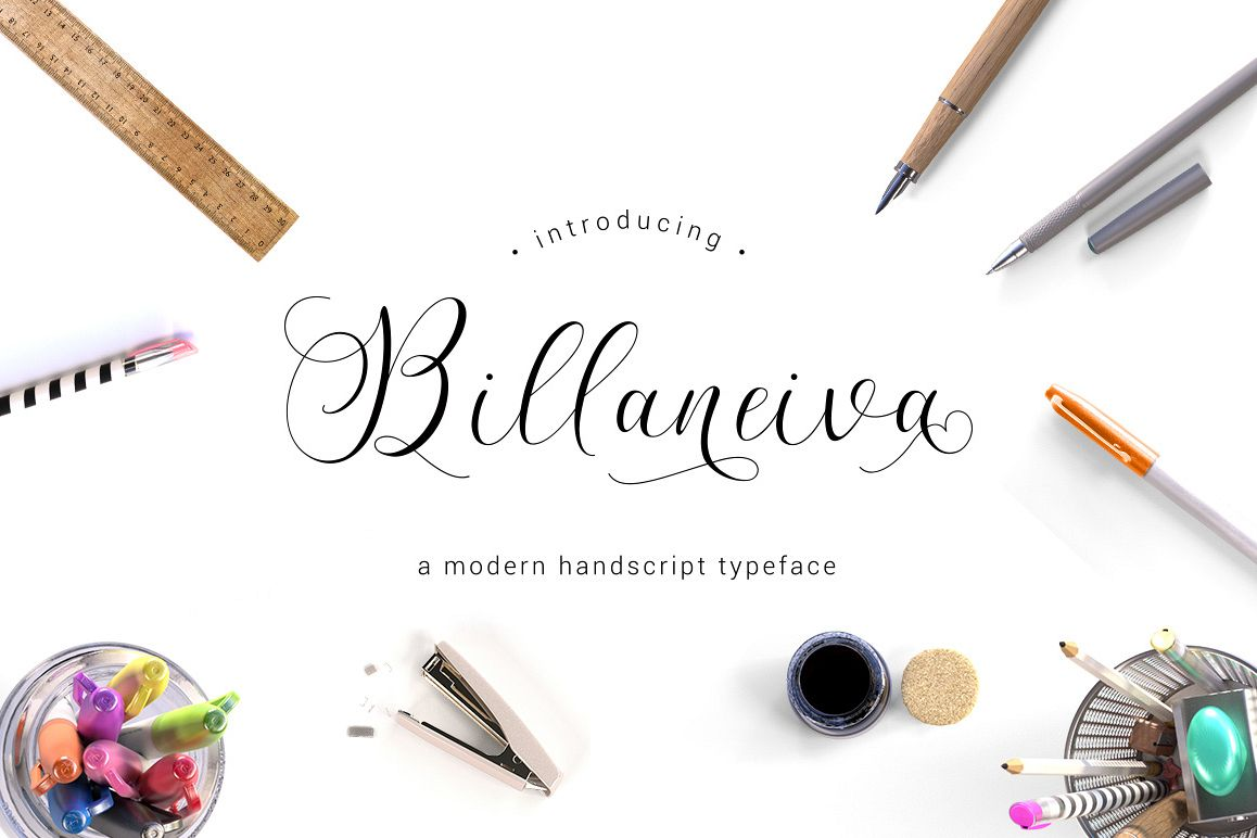 Billaneiva Typeface example image 1