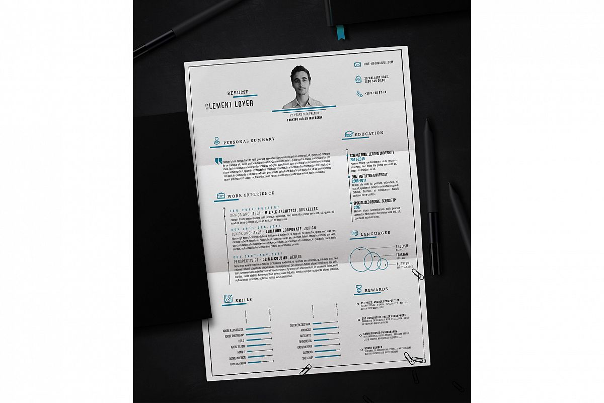 Precise Blue Resume example image 1