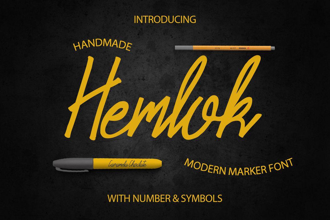 Hemlock Marker Font example image 1