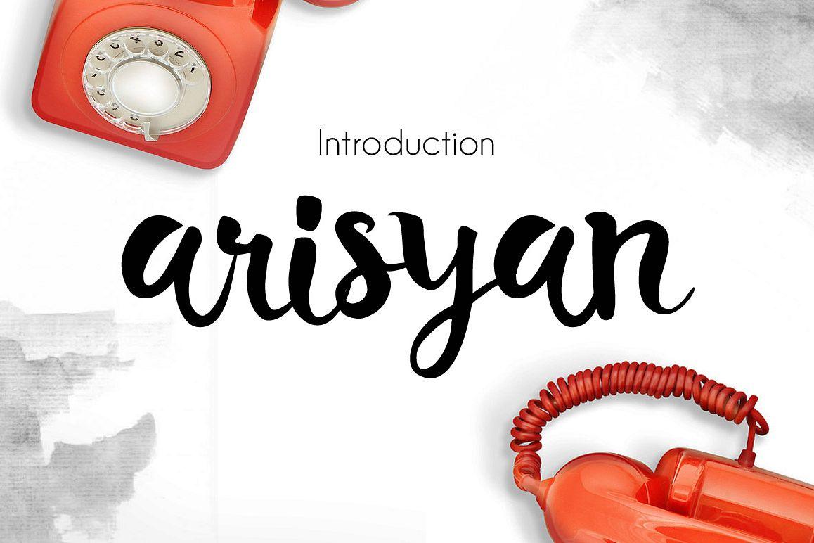 Arisyan Script example image 1