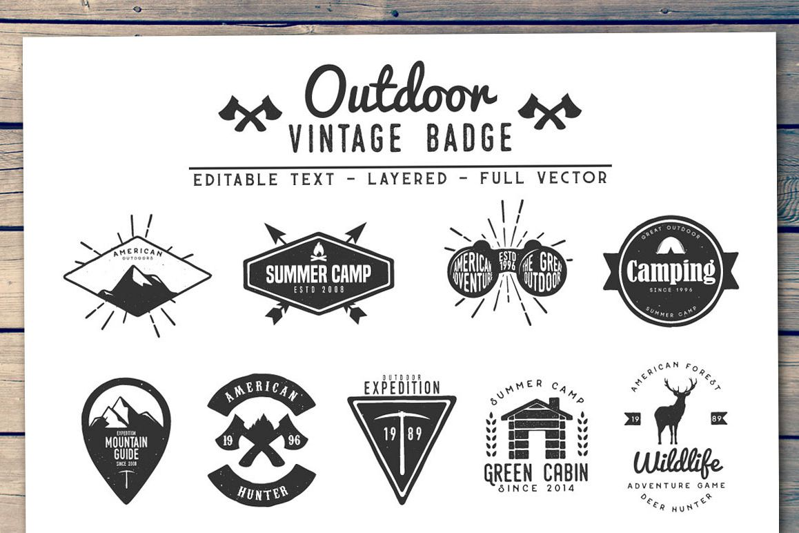 Outdoor Vintage Badge example image 1