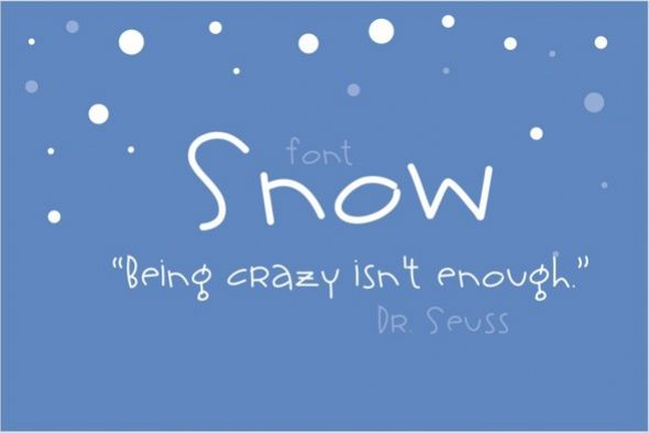 Snow Font example image 1