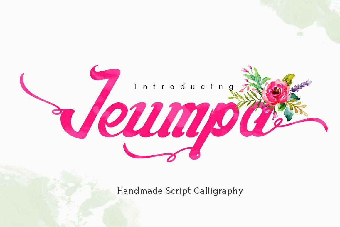 Jeumpa Script example image 1