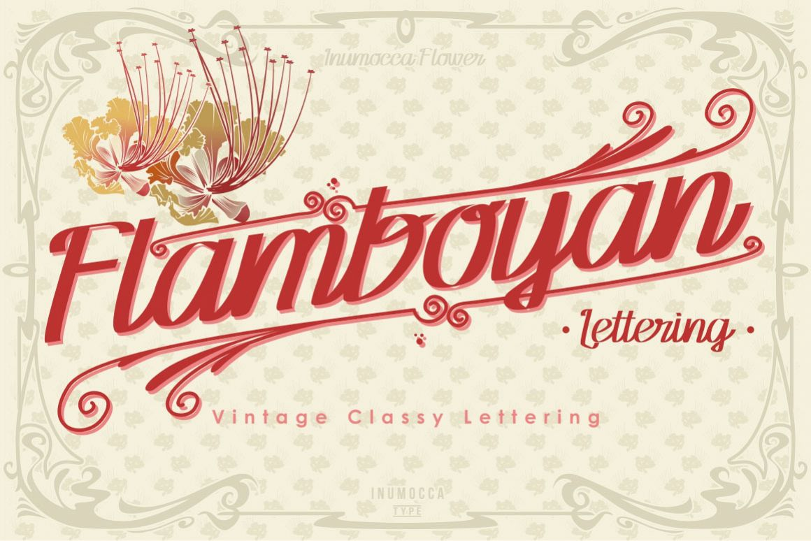 Flamboyan Lettering example image 1