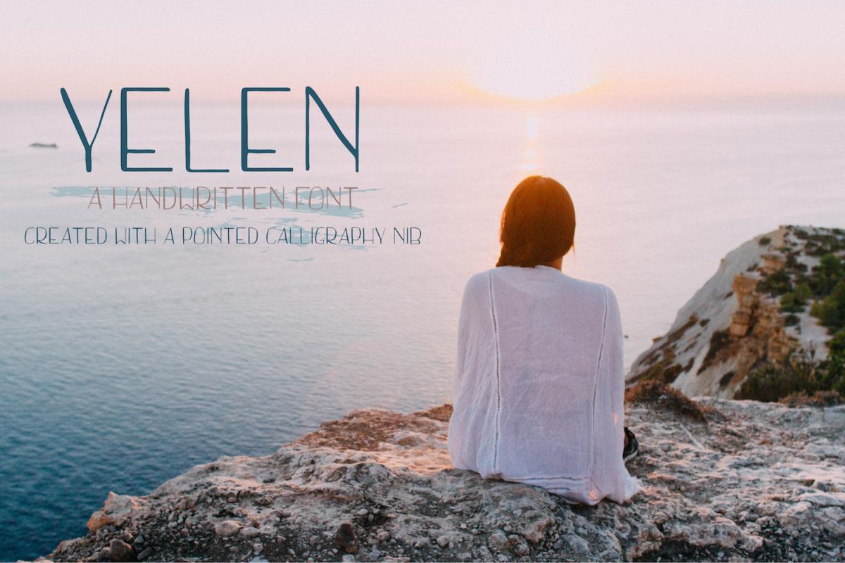 Yelen  Handwritten Font example image 1
