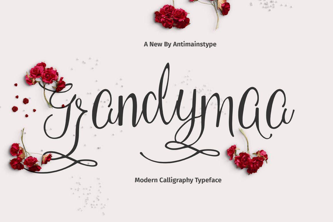 Grandymaa Typeface + Swashs example image 1