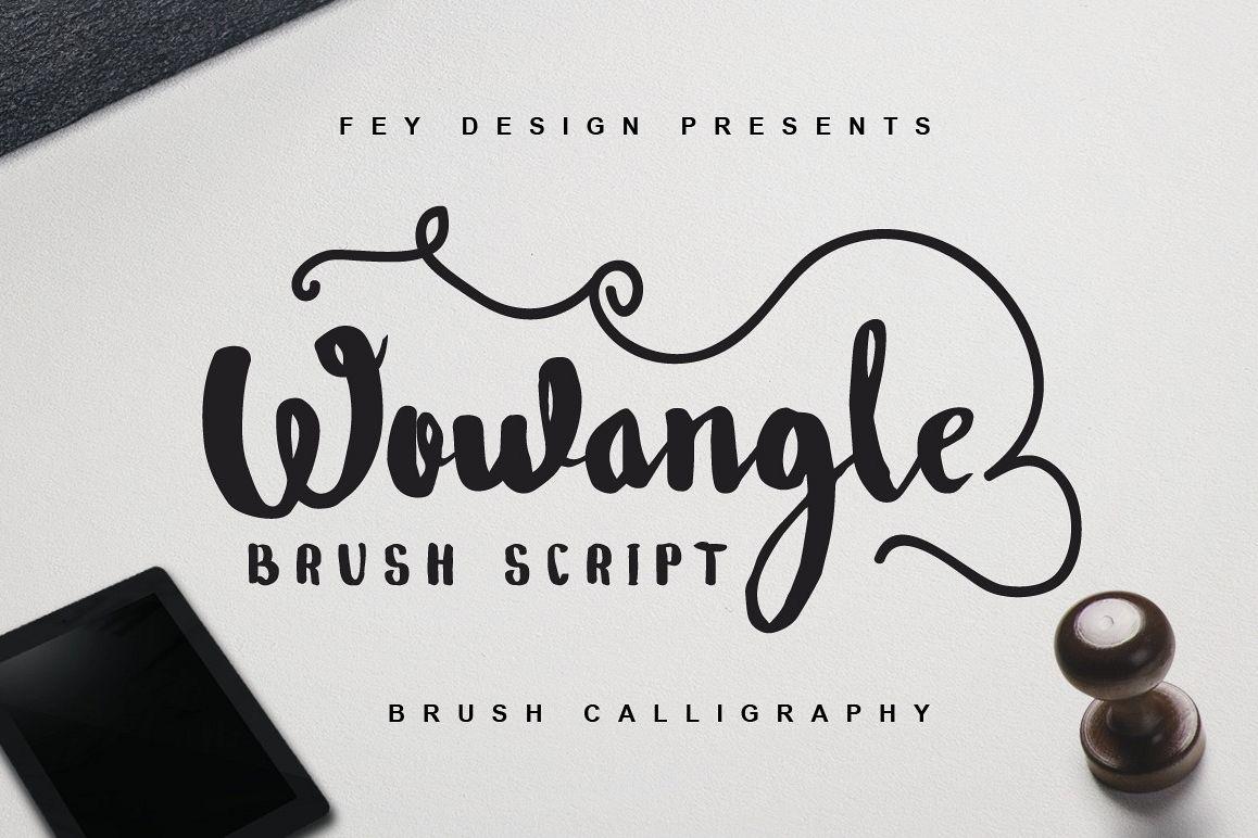 Wowangle Brush Script (Bonus Font) example image 1