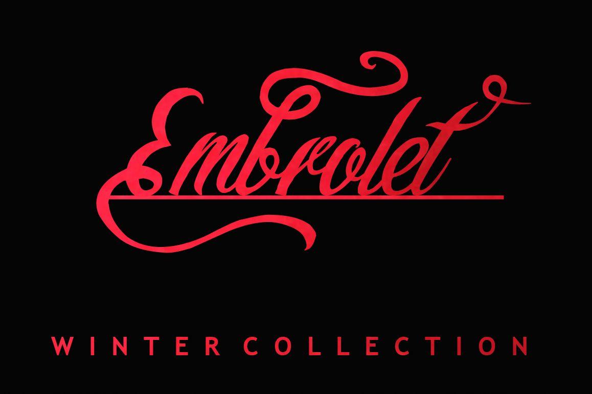 Embrolet Script Font example image 1