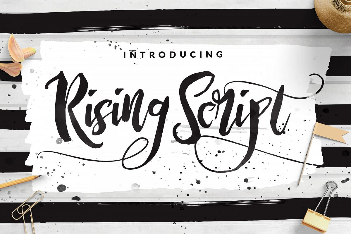 Rising Brush Script example image 1