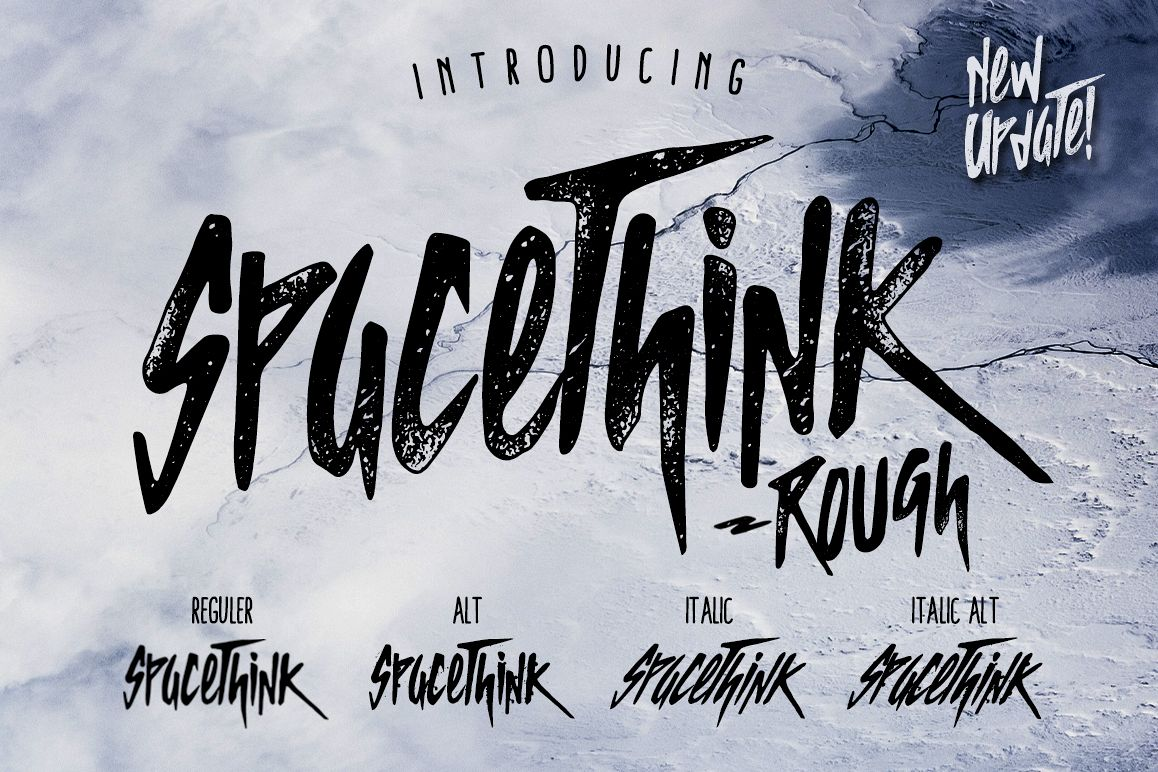 SPACETHINK Typeface example image 1