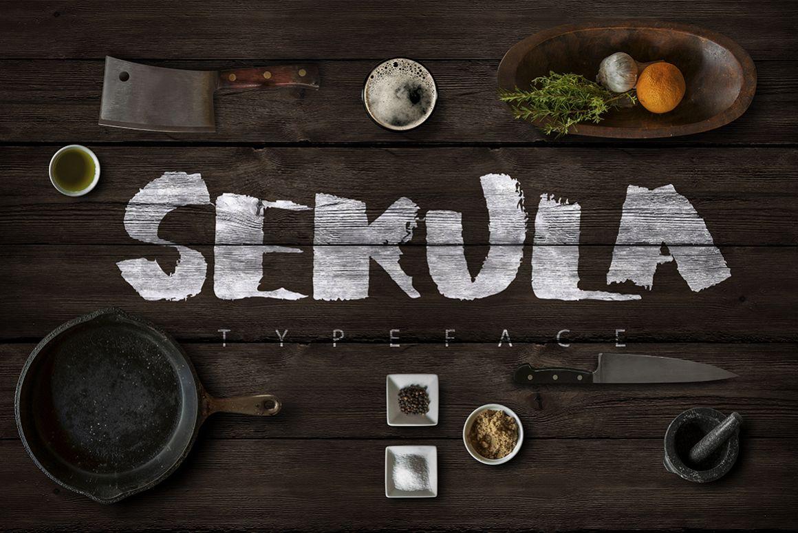 Sekula Script Typeface example image 1