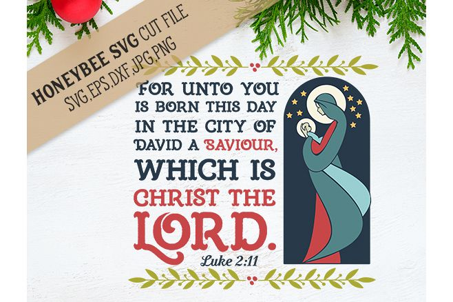 For Unto Us Is Born This Day svg example image 1