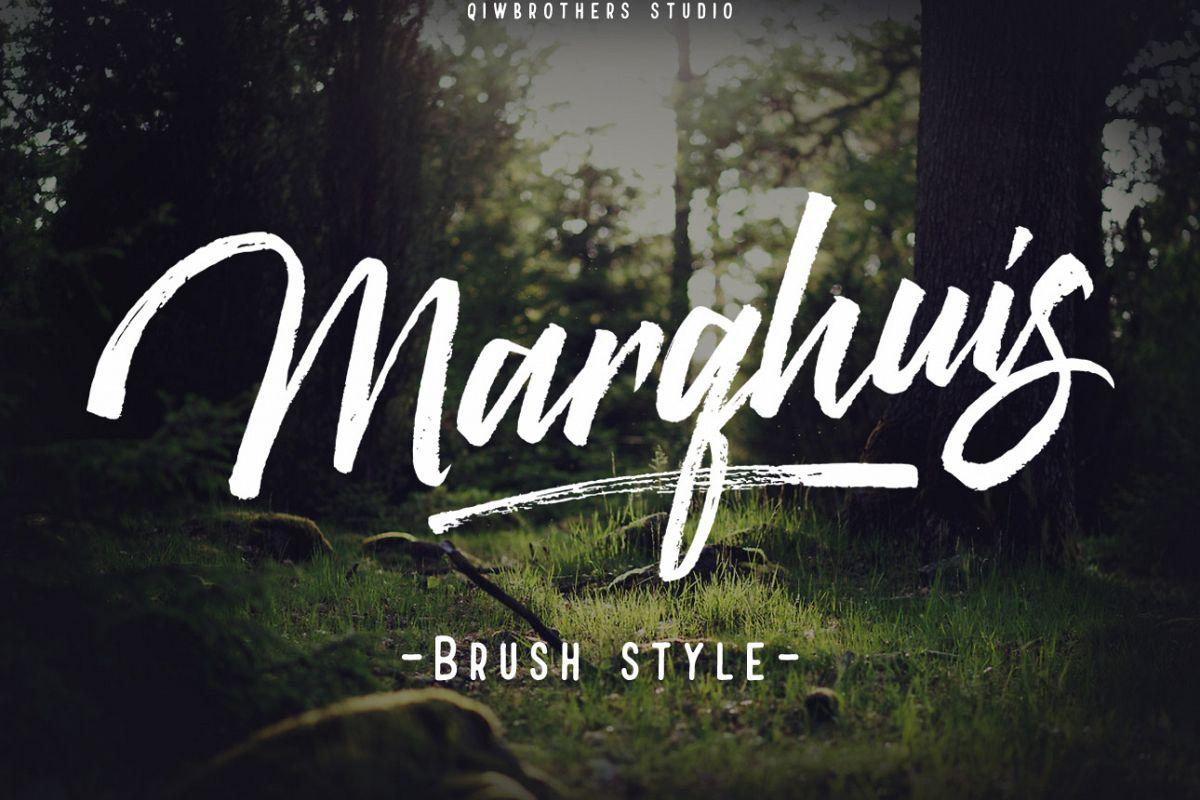 Marqhuis Brush font example image 1