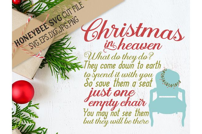 viewing product christmas in heaven chair svg