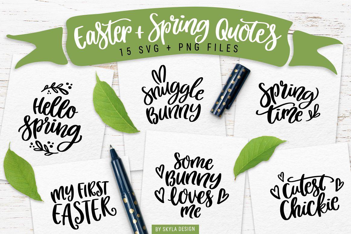 Easter Amp Spring Quotes Svg Bundle