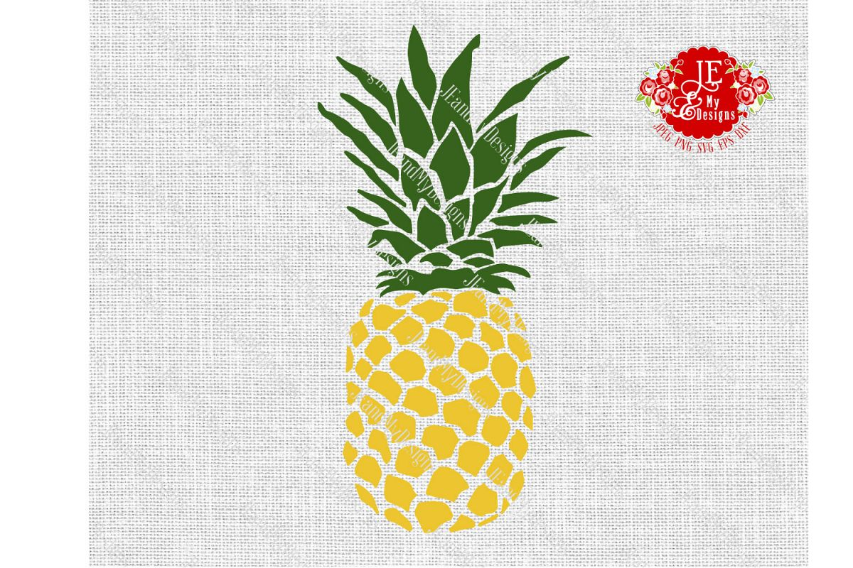 Golden Pineapple SVG, JPEG, PNG, EPS, DXF example image 1