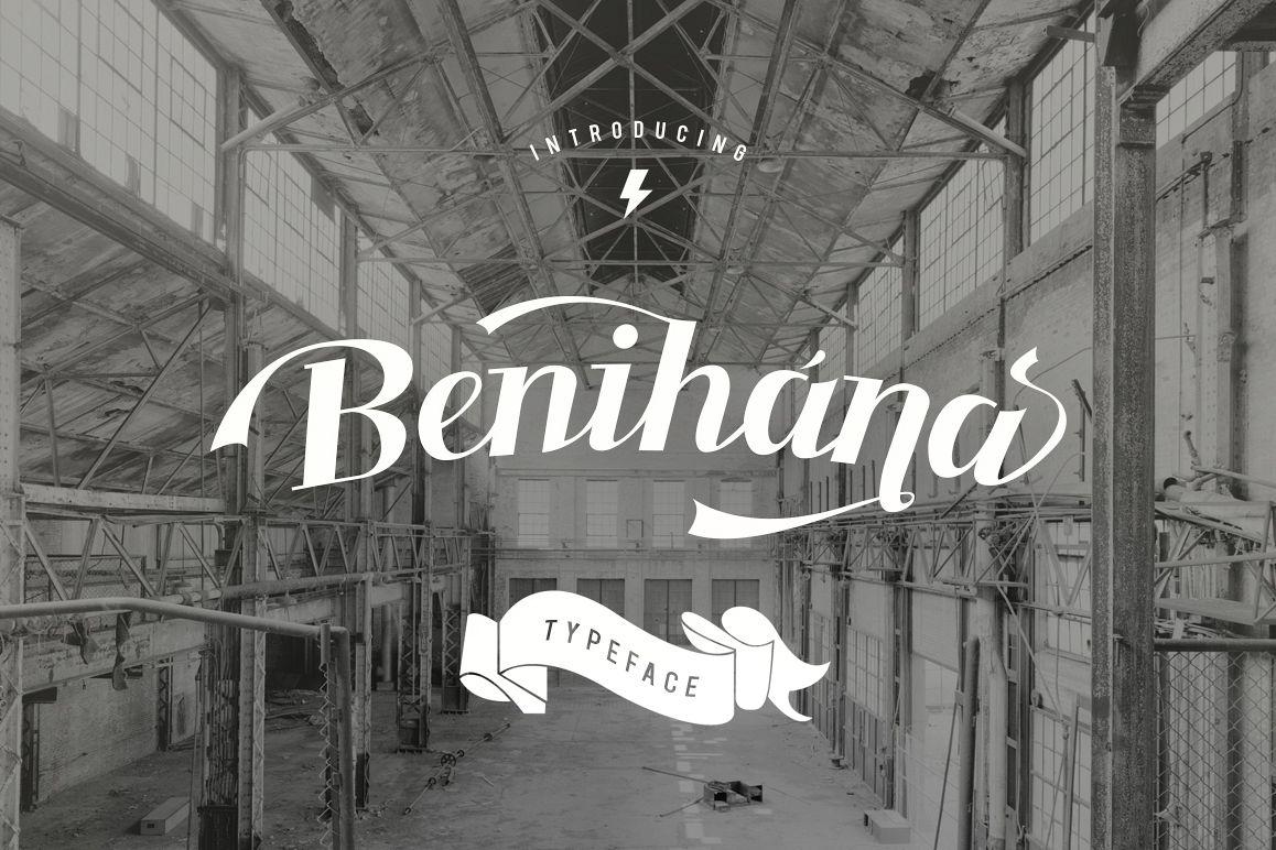 Benihana Typeface + Logo Vintage example image 1