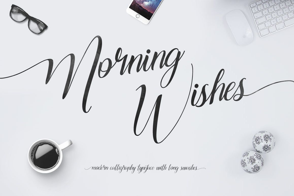 Morning Wishes + Long Swashes example image 1