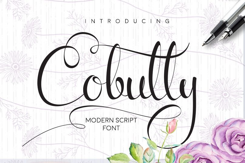 Cobully Font Script example image 1