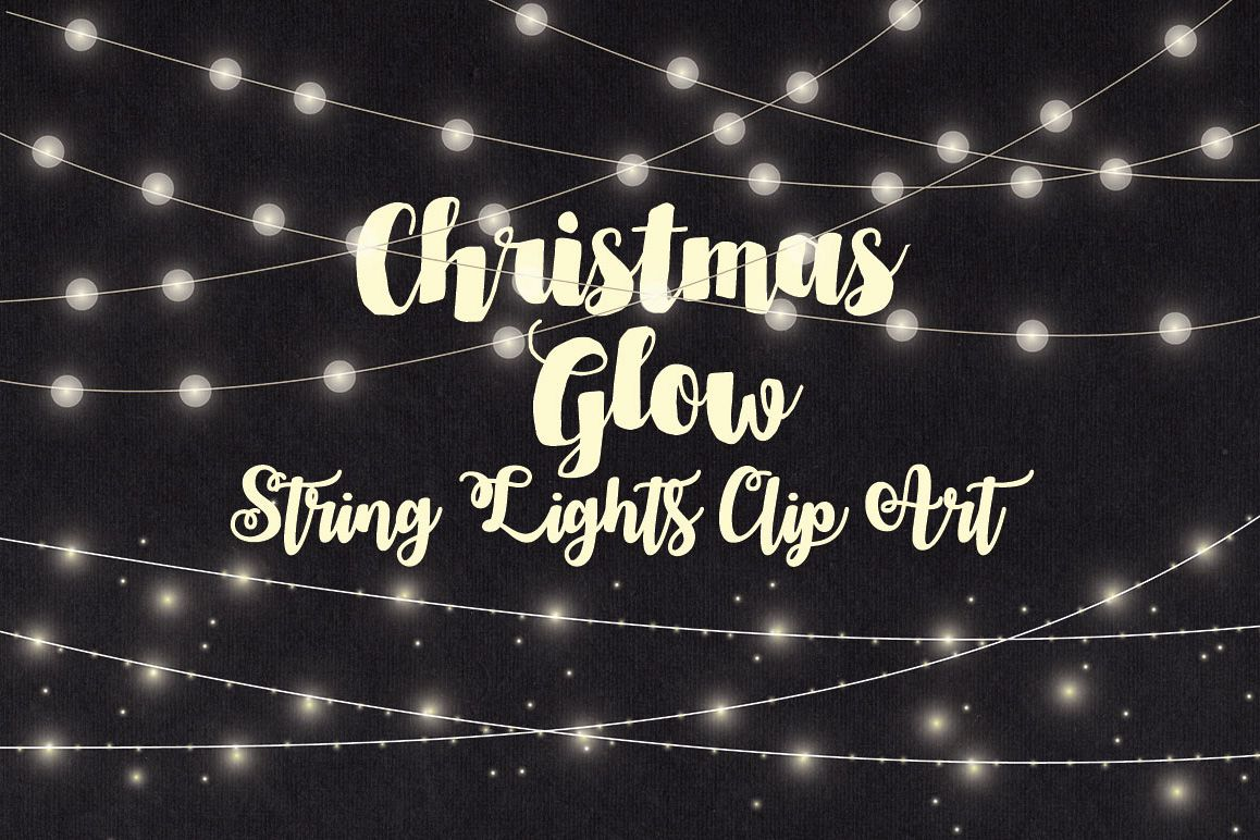 Christmas String Lights Clip Art Example Image