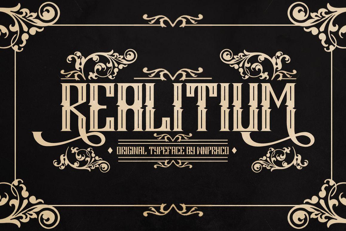 Realitium Font example image 1