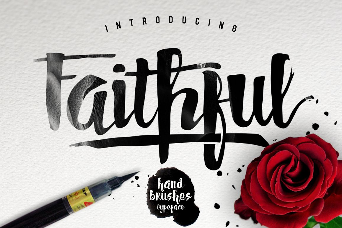 Faithful Typeface example image 1