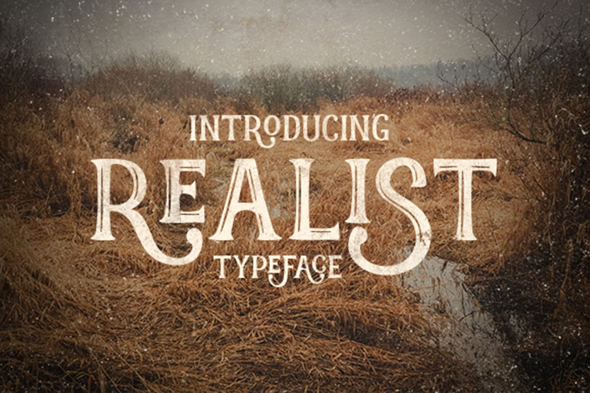 Realist typeface example image 1