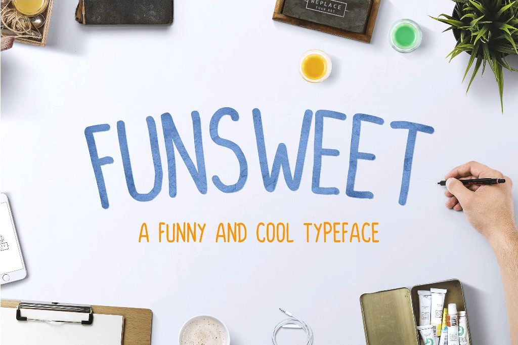 FUNSWEET Typeface Funny example image 1