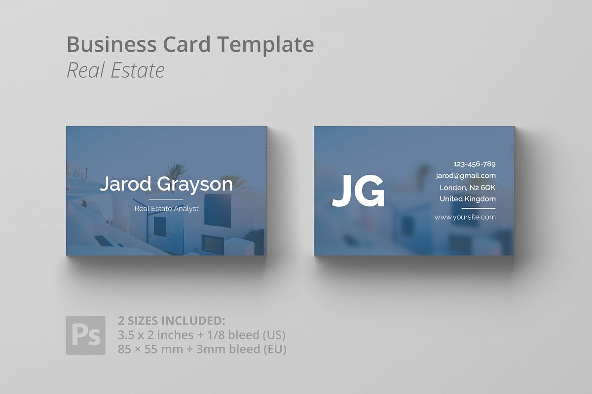 Business Card Template - Real Estate example image 1