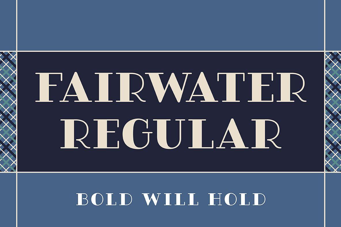 Fairwater Solid Serif example image 1