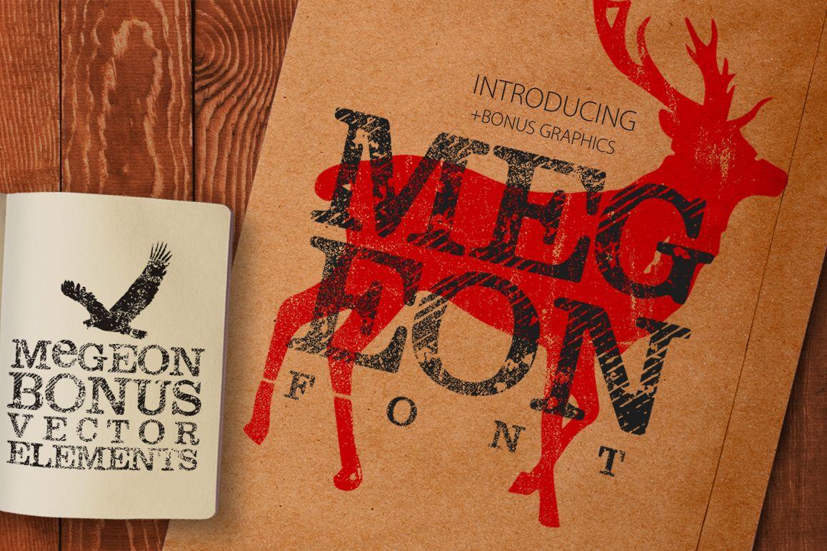 Megeon Font + Vector Bonus example image 1