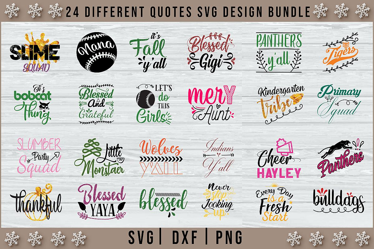 New 24 Different Quotes SVG Design Bundle Vol 3 example image 1