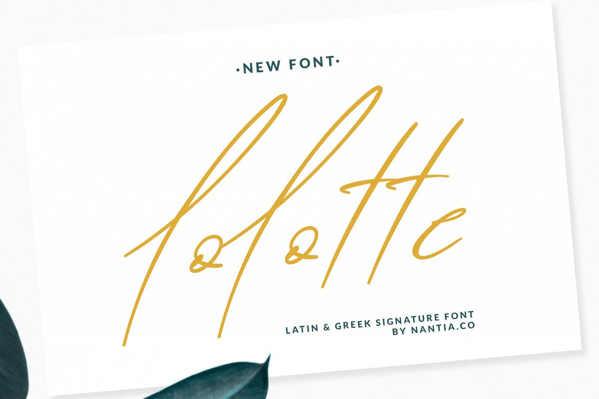 Lolotte Multilingual Signature Font example image 1