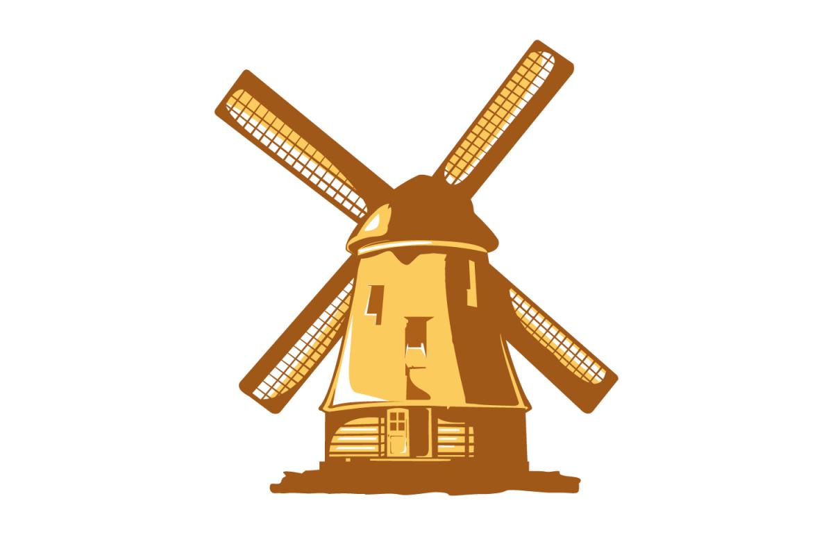 vector windmill rh designbundles net windmill vector clipart windmill vector png