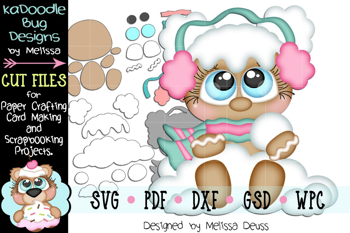Snowball Ginger Cutie Cut File - SVG PDF DXF GSD WPC example image 1
