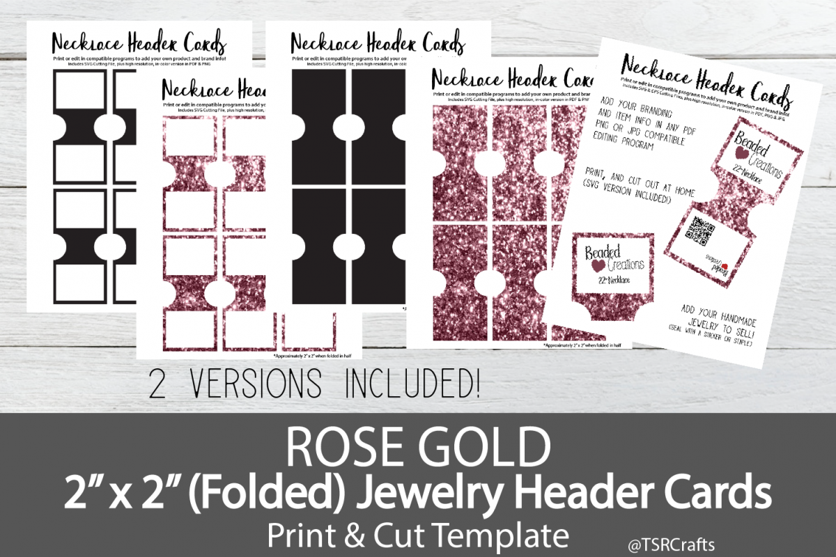 Jewelry Header Cards for Necklace - Rose Gold example image 1