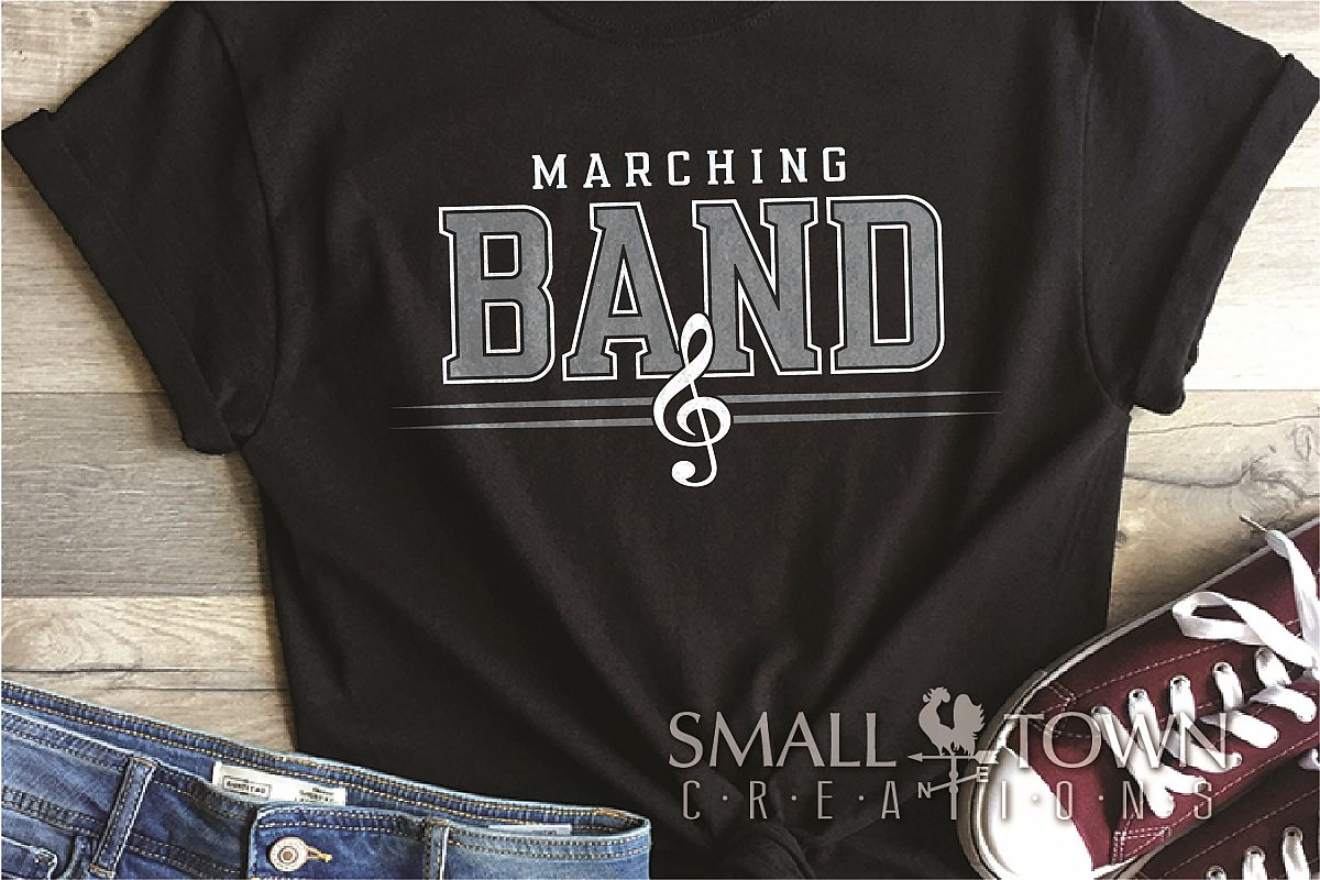 Marching Band logo, Muscial Note, PRINT, CUT & DESIGN example image 1