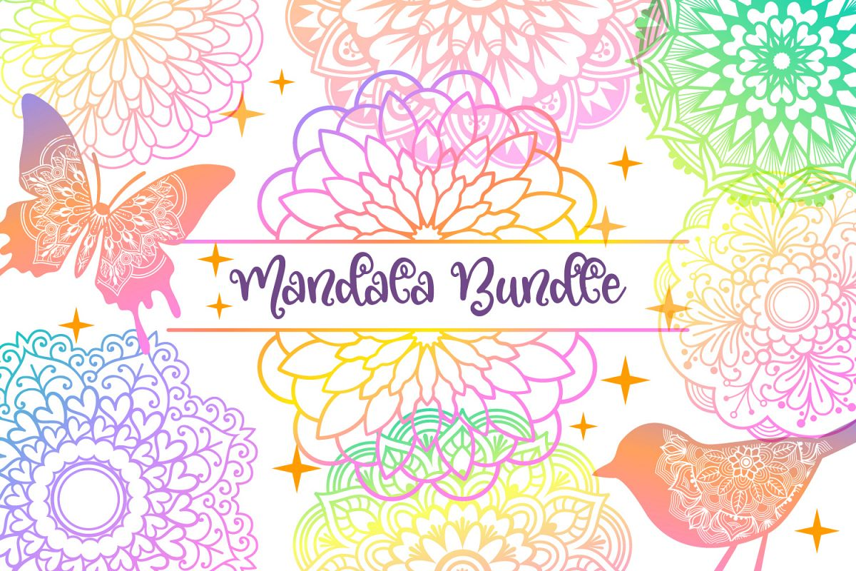 Mandala SVG Files Bundle - 40 Cut Files example image 1