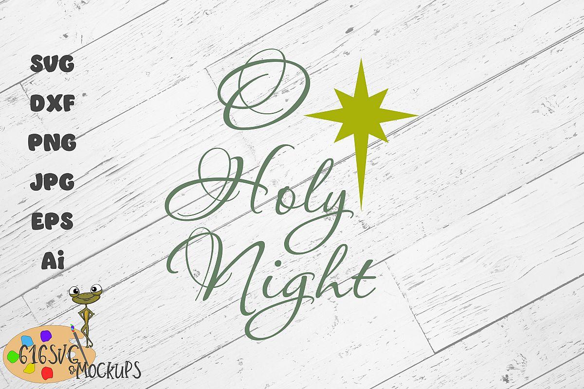 O Holy Night SVG example image 1