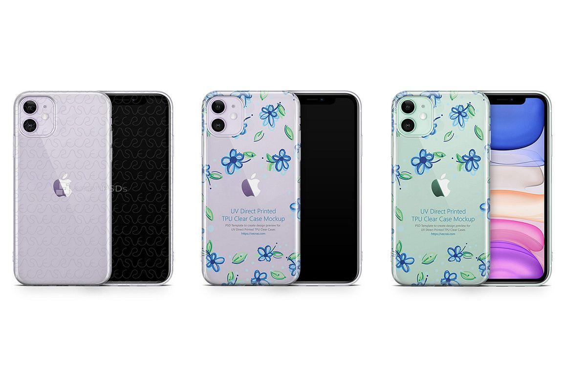 iPhone 11 2019 TPU Clear Case Mockup example image 1