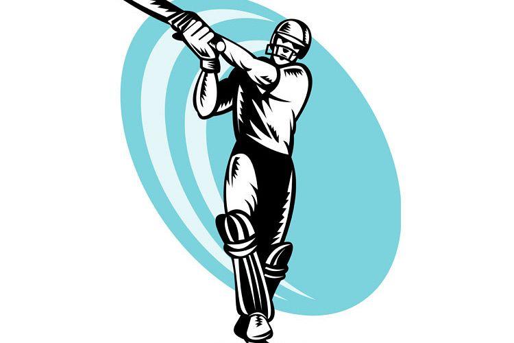 cricket batsman batting front example image 1